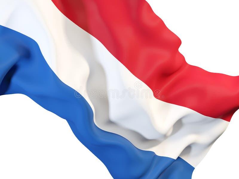 Drapeau de ondulation des Hollandes illustration libre de droits