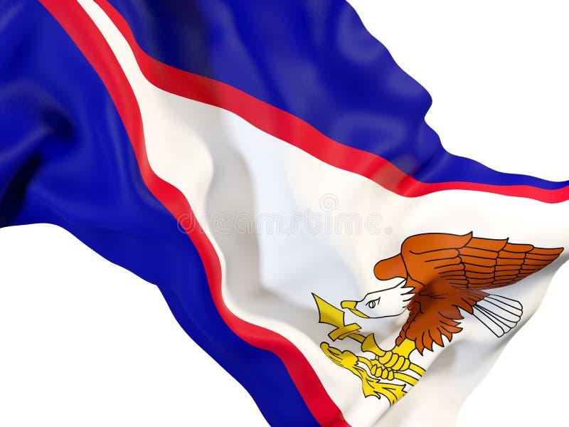 Drapeau de ondulation des Samoa américaines illustration libre de droits