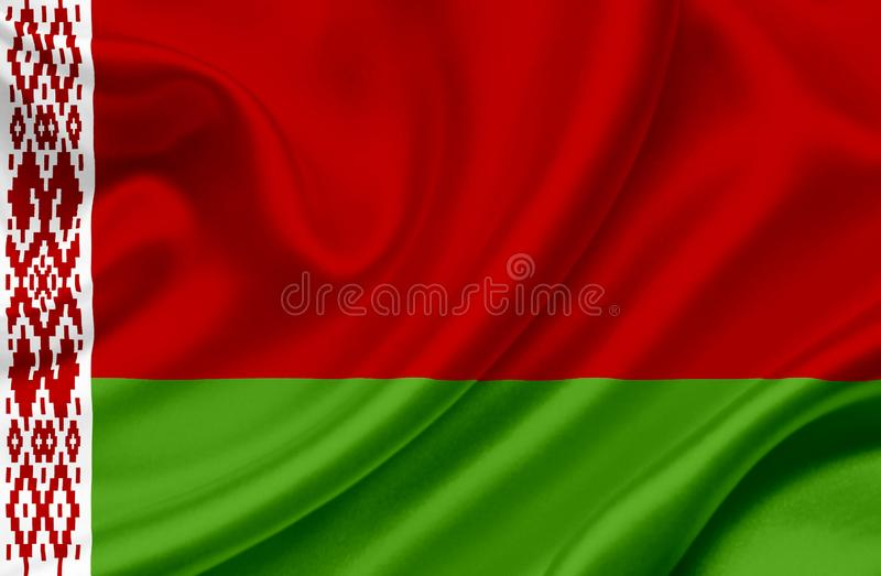 Drapeau de ondulation du Belarus illustration de vecteur