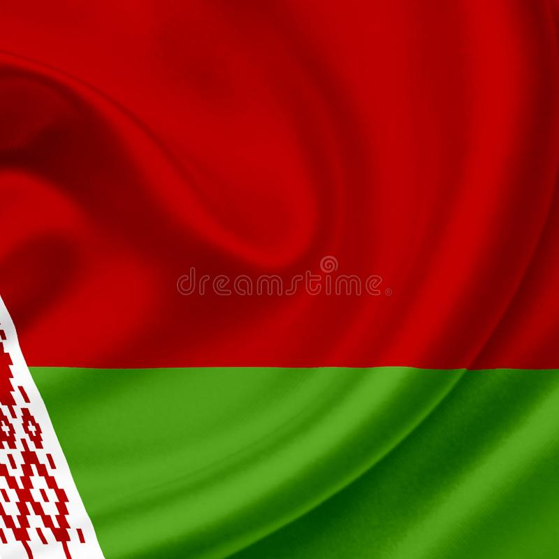 Drapeau de ondulation du Belarus illustration stock