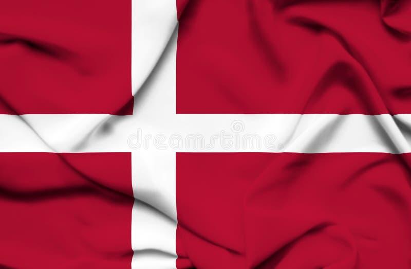 Drapeau de ondulation du Danemark illustration de vecteur