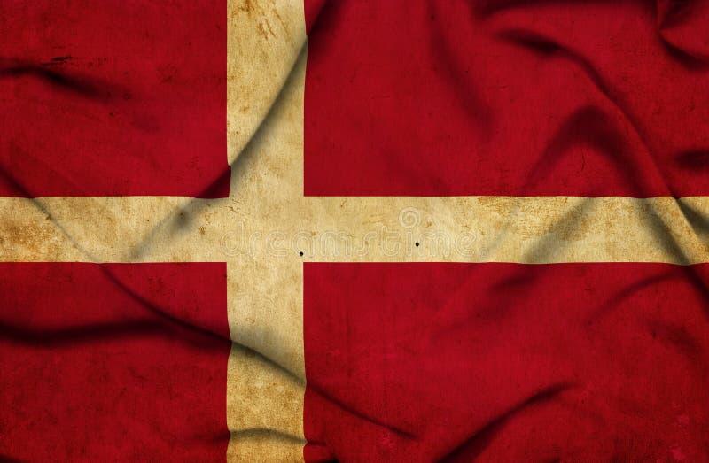 Drapeau de ondulation du Danemark illustration libre de droits