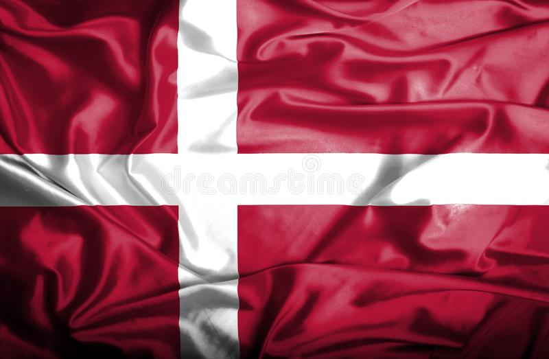 Drapeau de ondulation du Danemark illustration stock