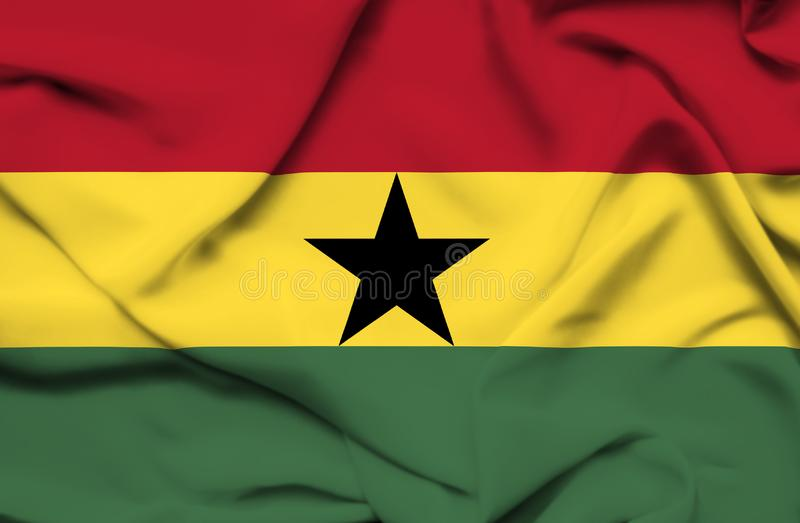 Drapeau de ondulation du Ghana illustration libre de droits