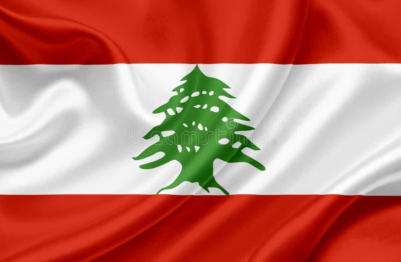 Drapeau de ondulation du Liban illustration libre de droits