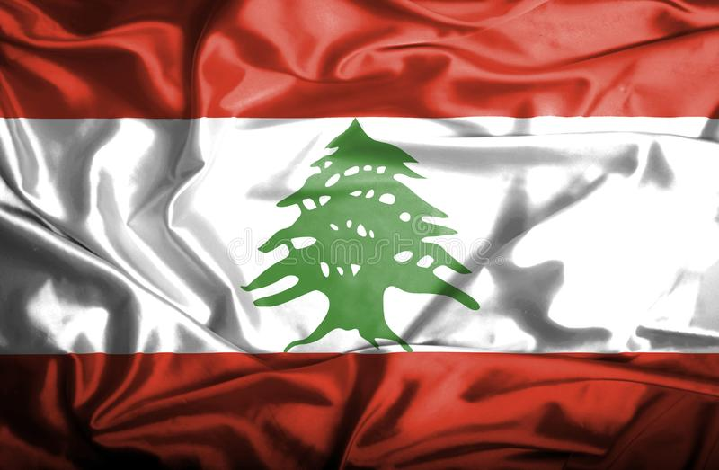 Drapeau de ondulation du Liban illustration de vecteur