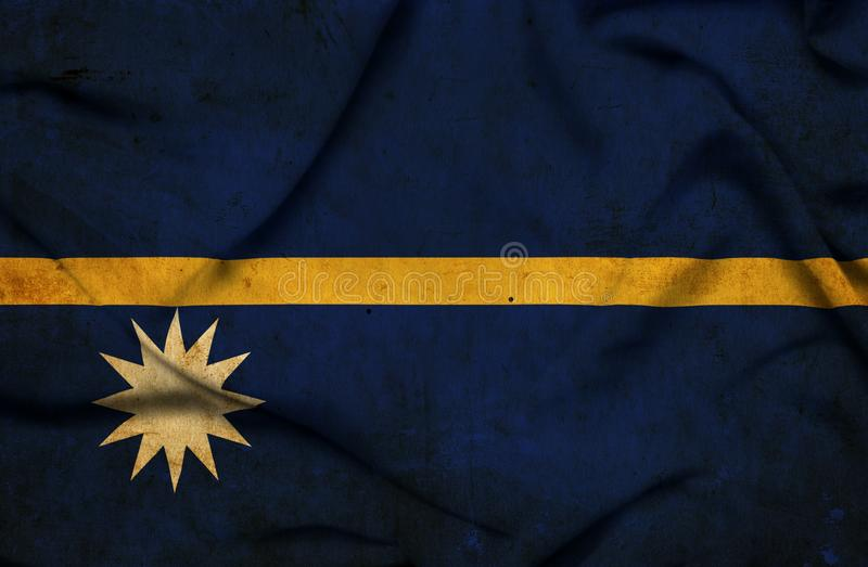 Drapeau de ondulation du Nauru illustration de vecteur
