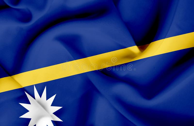Drapeau de ondulation du Nauru illustration libre de droits
