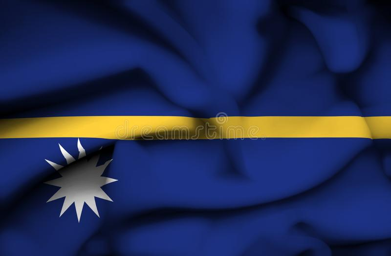 Drapeau de ondulation du Nauru illustration stock
