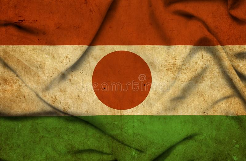Drapeau de ondulation du Niger illustration libre de droits