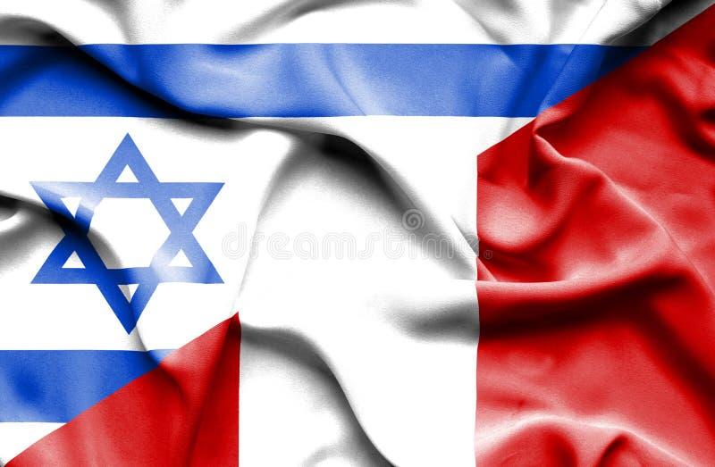 Drapeau de ondulation du Pérou et de l'Israël illustration de vecteur