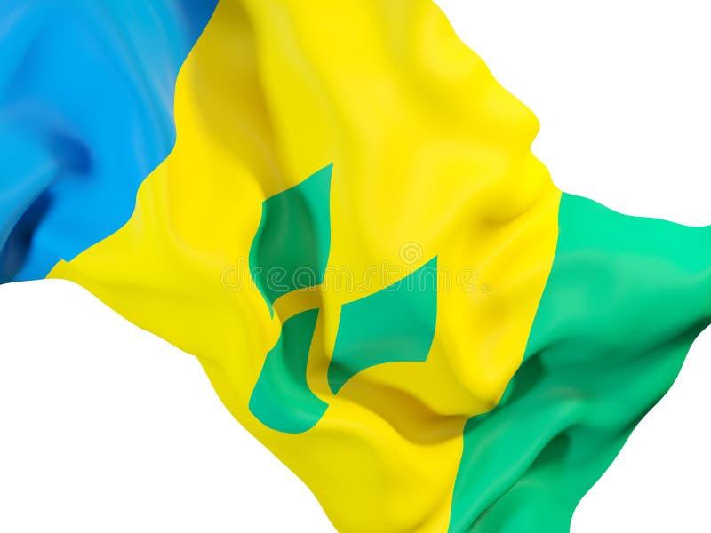 Drapeau de ondulation du Saint-Vincent-et-les Grenadines illustration libre de droits