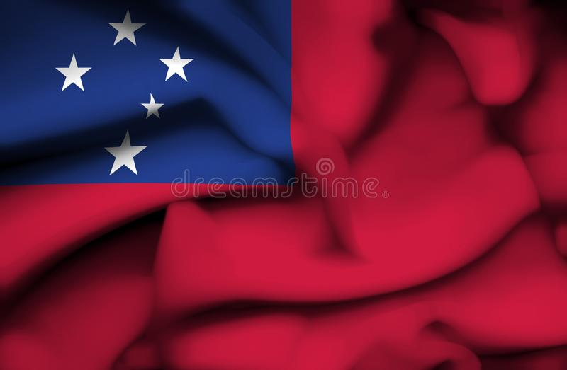 Drapeau de ondulation du Samoa illustration de vecteur