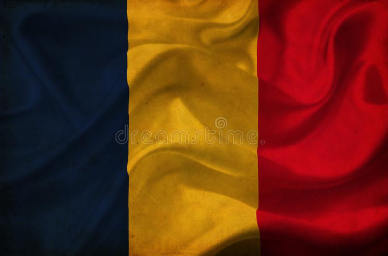 Drapeau de ondulation du Tchad illustration libre de droits