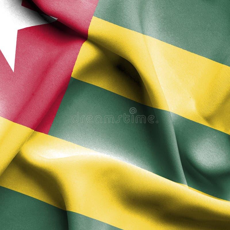 Drapeau de ondulation du Togo illustration stock