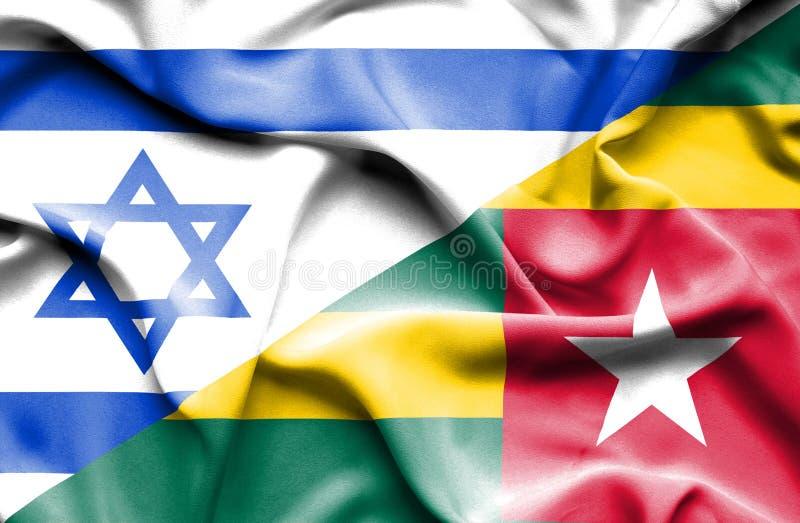 Drapeau de ondulation du Togo et de l'Israël illustration stock