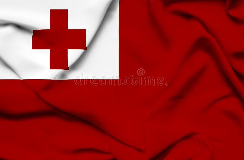 Drapeau de ondulation du Tonga illustration libre de droits
