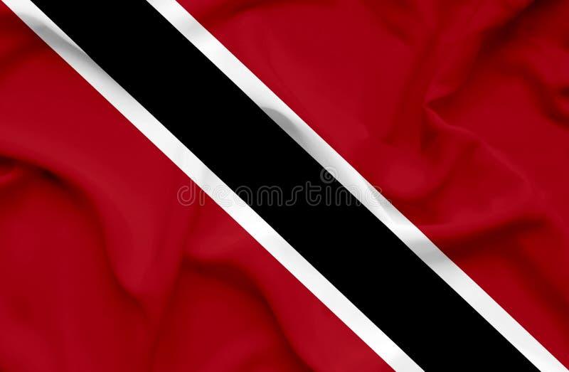 Drapeau de ondulation du Trinidad-et-Tobago image stock