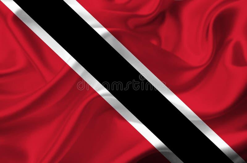 Drapeau de ondulation du Trinidad-et-Tobago photo libre de droits
