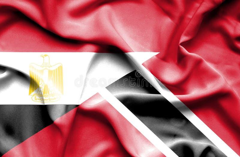Drapeau de ondulation du Trinidad-et-Tobago et de l'Egypte photos stock