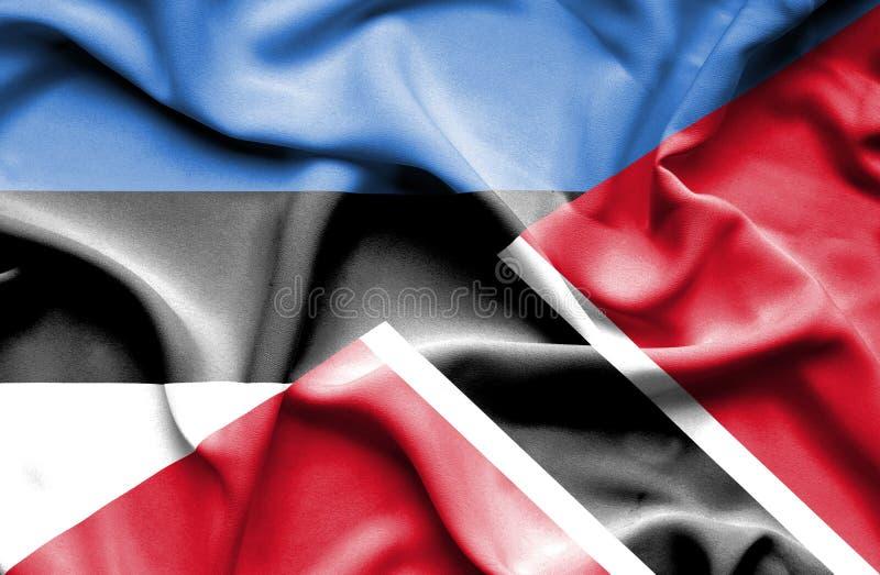 Drapeau de ondulation du Trinidad-et-Tobago et de l'Estonie photo stock