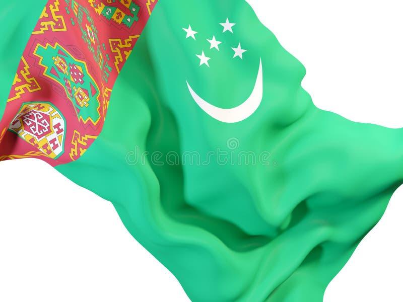 Drapeau de ondulation du Turkménistan illustration libre de droits