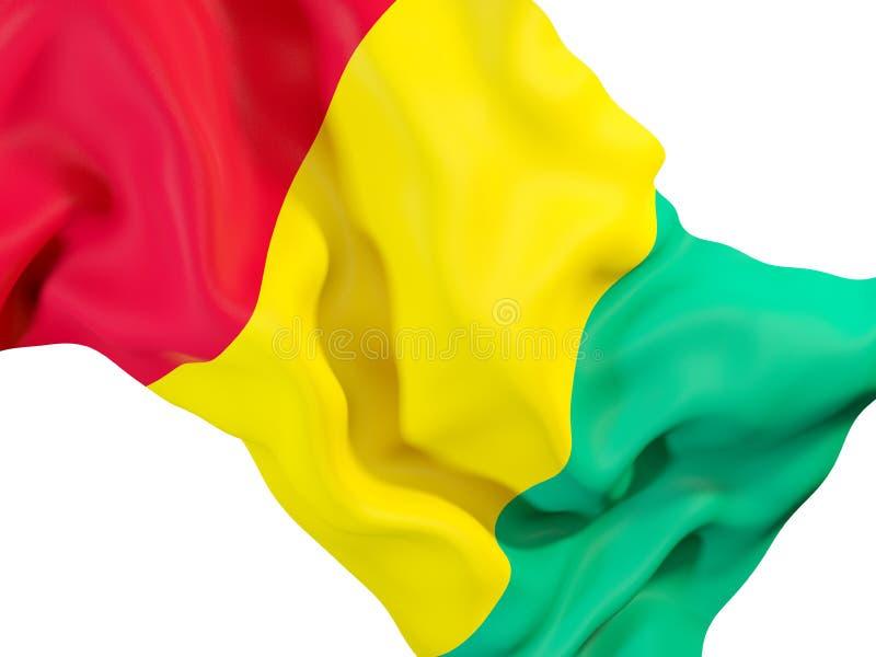 Drapeau de ondulation de Guinée illustration de vecteur