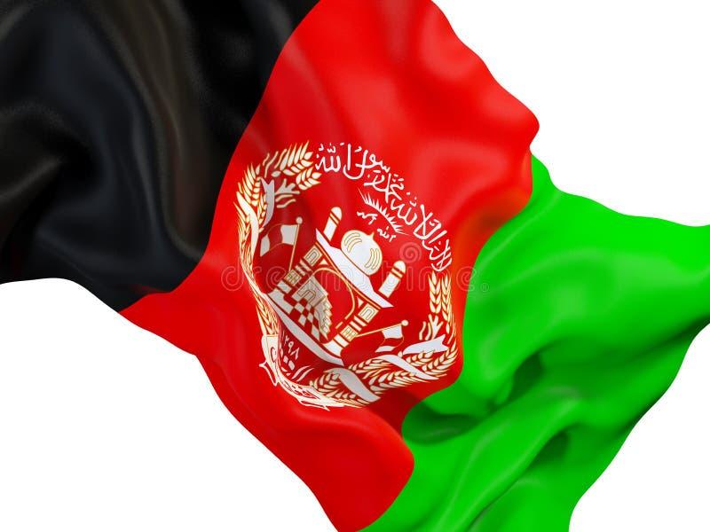 Drapeau de ondulation de l'Afghanistan illustration libre de droits