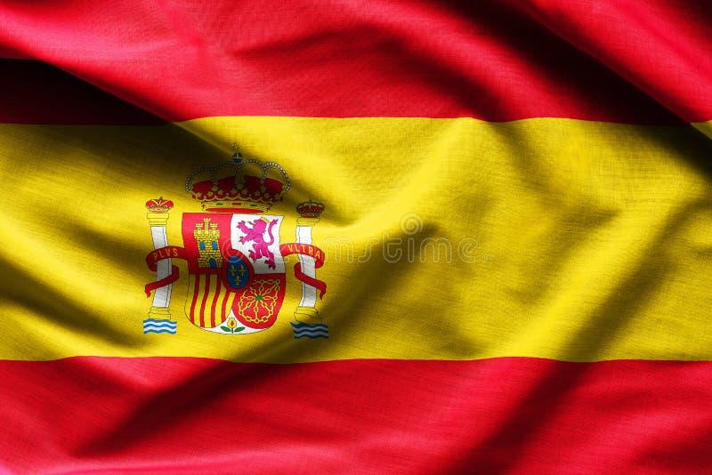 Drapeau de ondulation de l'Espagne photos libres de droits