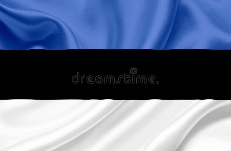Drapeau de ondulation de l'Estonie illustration de vecteur