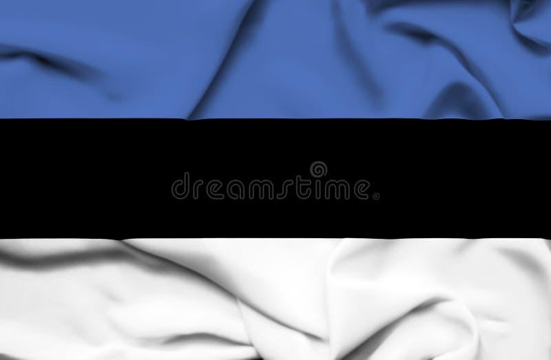 Drapeau de ondulation de l'Estonie illustration stock