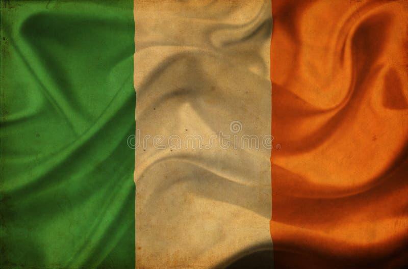 Drapeau de ondulation de l'Irlande illustration de vecteur