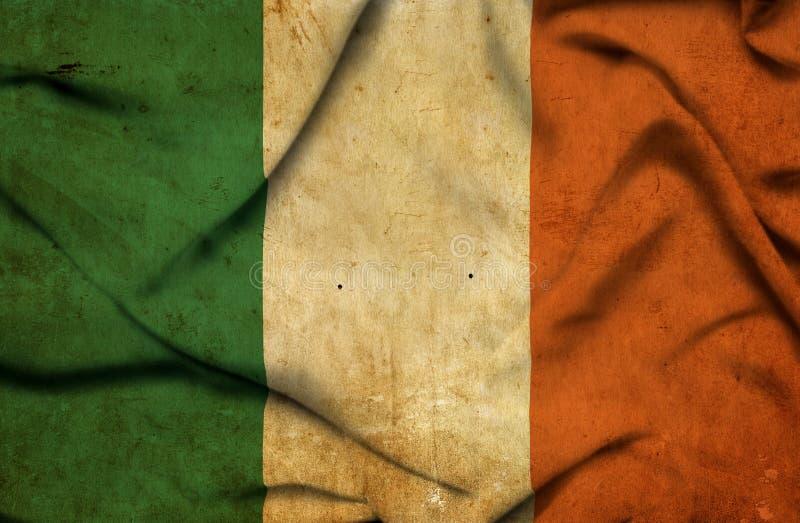 Drapeau de ondulation de l'Irlande illustration libre de droits