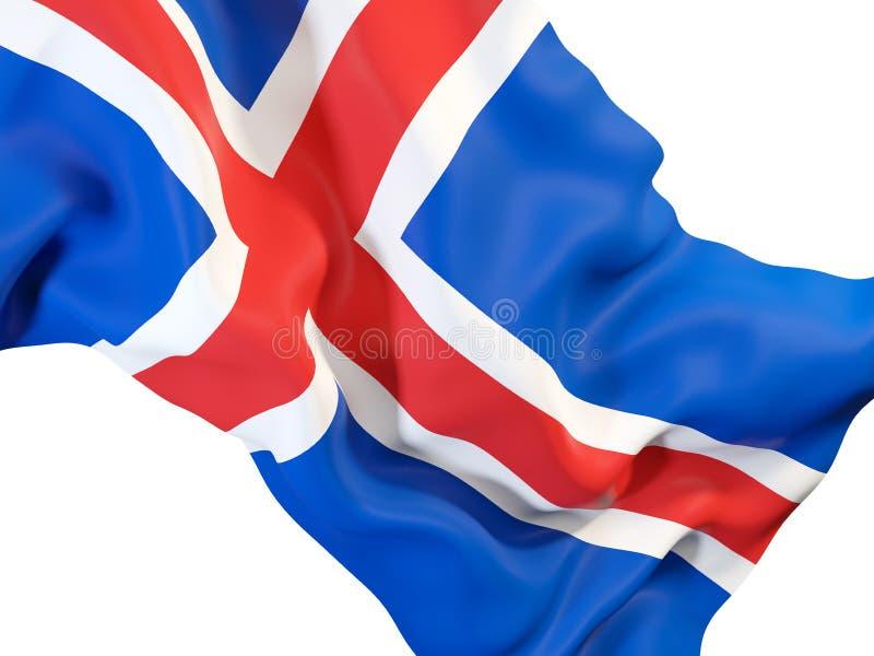 Drapeau de ondulation de l'Islande illustration de vecteur