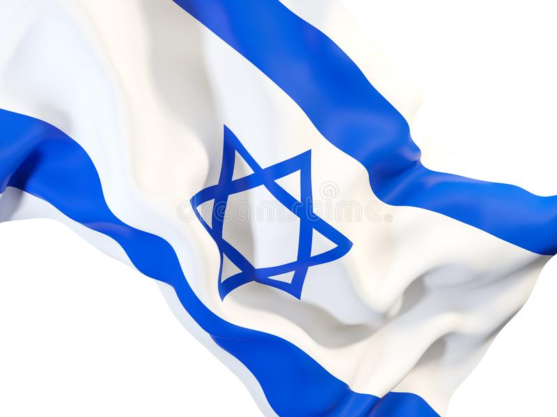Drapeau de ondulation de l'Israël illustration libre de droits