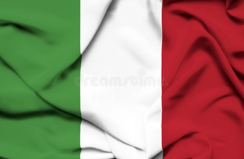 Drapeau de ondulation de l'Italie illustration de vecteur