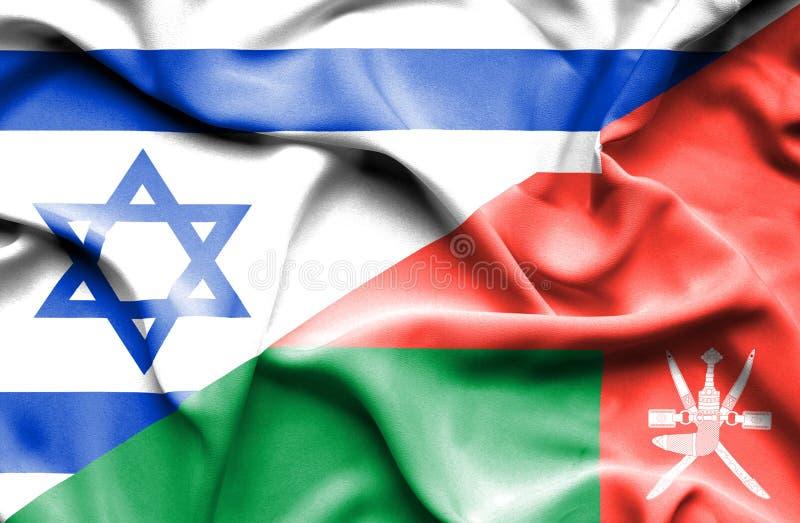 Drapeau de ondulation de l'Oman et de l'Israël illustration libre de droits