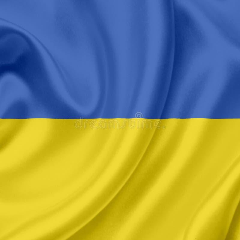 Drapeau de ondulation de l'Ukraine illustration stock