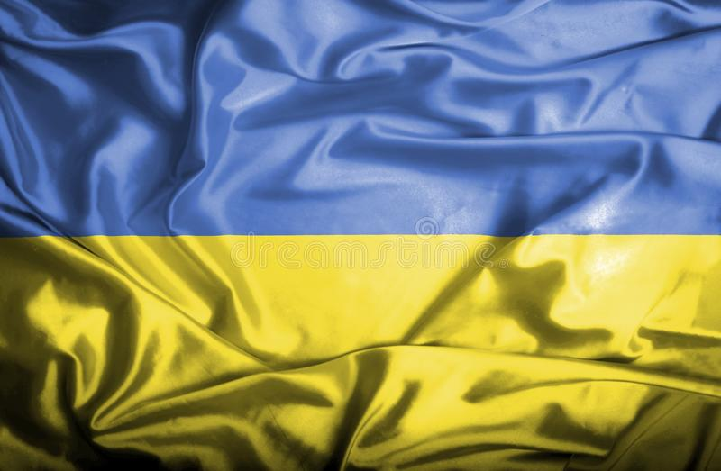 Drapeau de ondulation de l'Ukraine illustration de vecteur