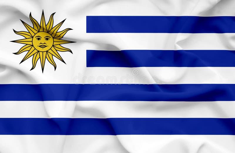 Drapeau de ondulation de l'Uruguay illustration de vecteur
