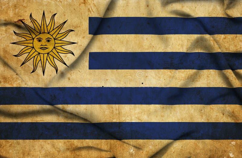 Drapeau de ondulation de l'Uruguay illustration stock
