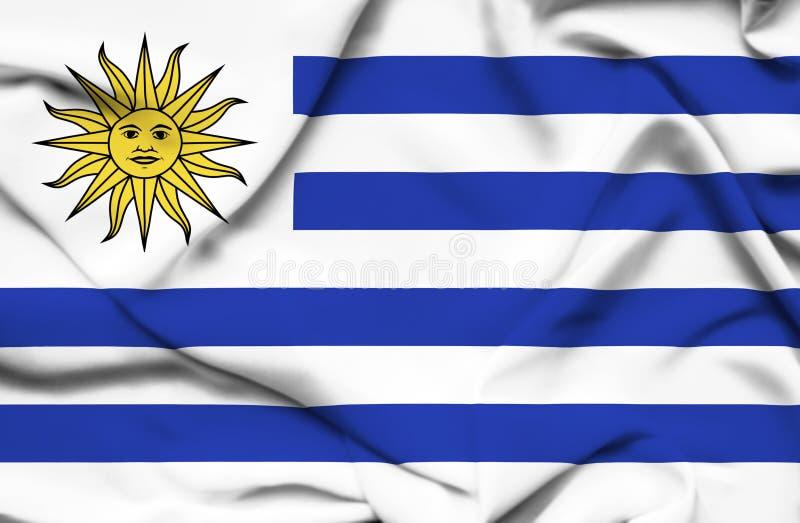 Drapeau de ondulation de l'Uruguay illustration libre de droits