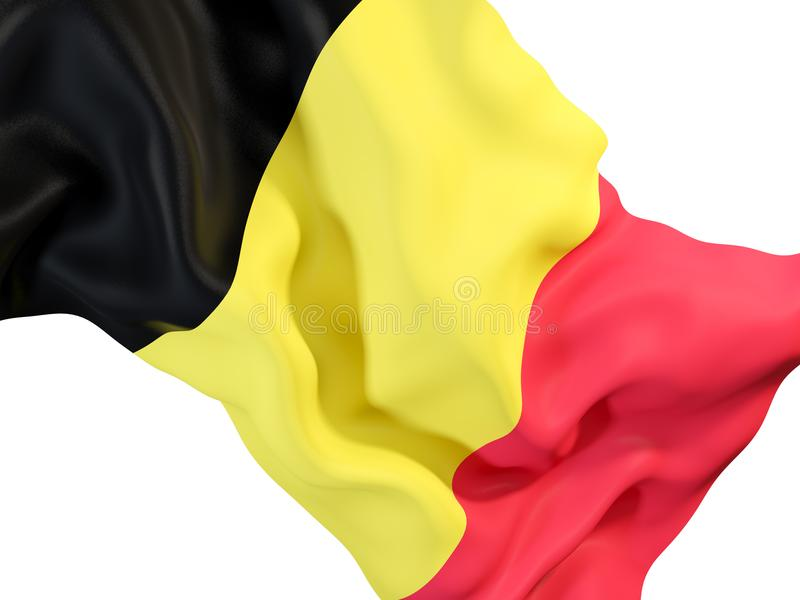 Drapeau de ondulation de la Belgique illustration stock