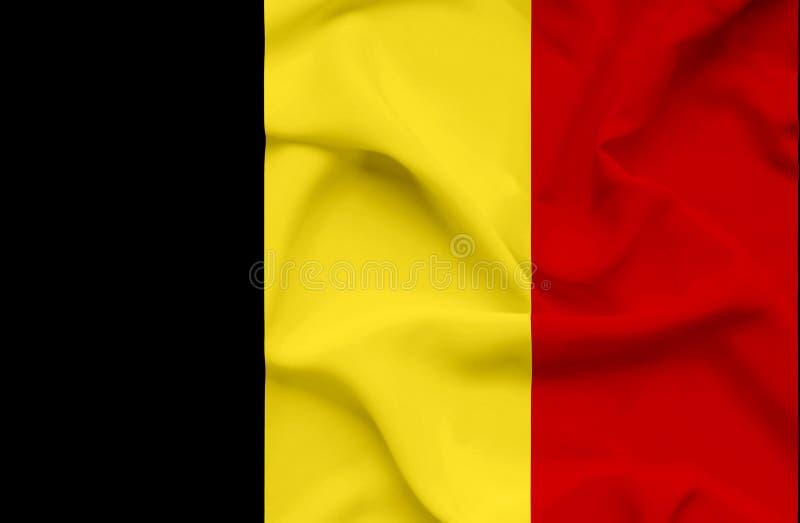Drapeau de ondulation de la Belgique illustration libre de droits