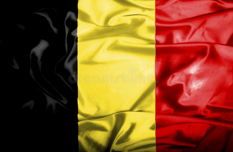 Drapeau de ondulation de la Belgique illustration de vecteur