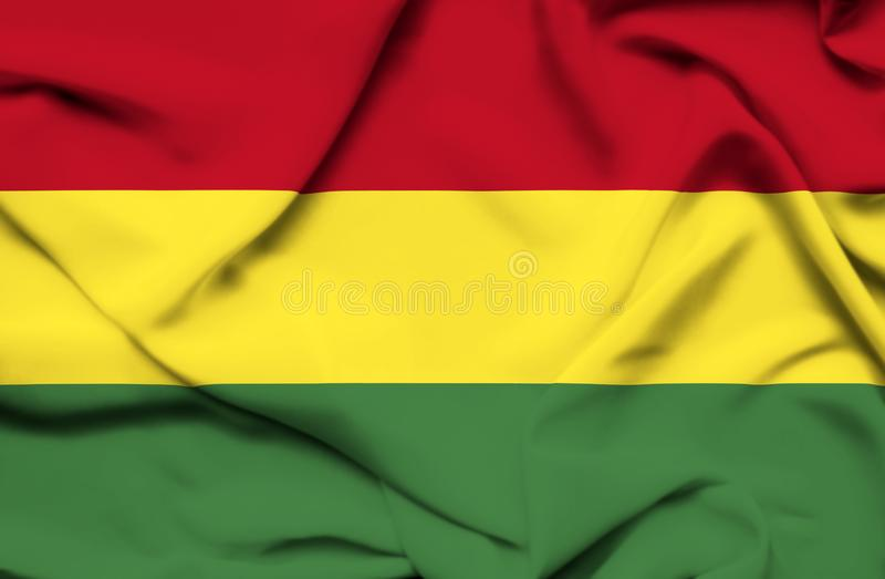 Drapeau de ondulation de la Bolivie illustration libre de droits