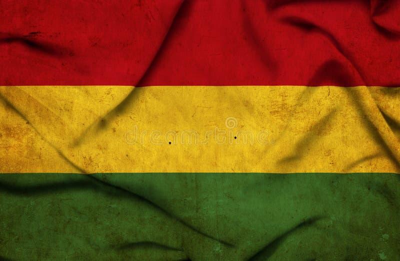 Drapeau de ondulation de la Bolivie illustration stock