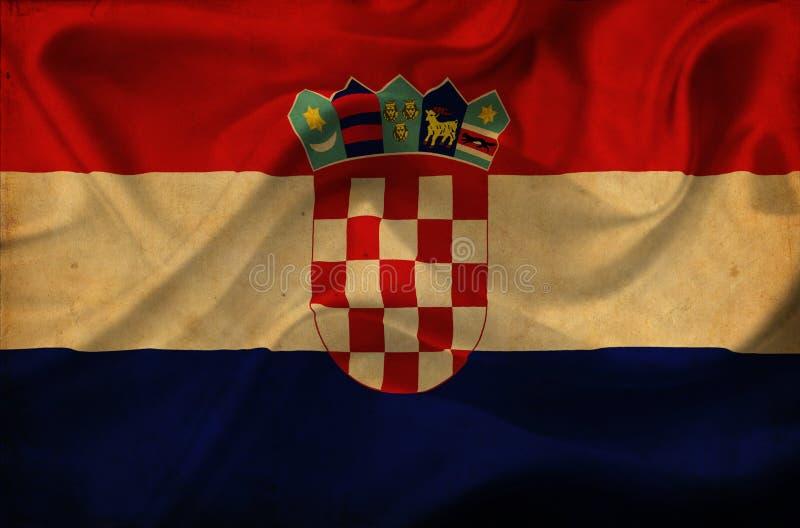 Drapeau de ondulation de la Croatie illustration de vecteur