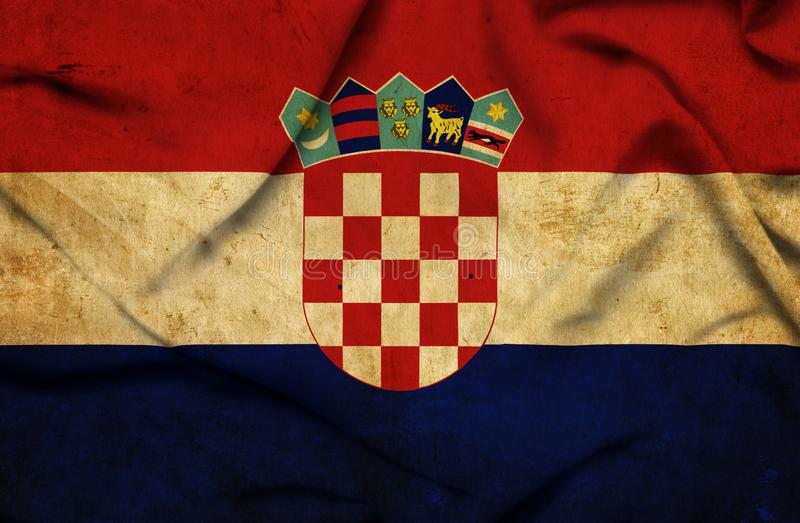 Drapeau de ondulation de la Croatie illustration libre de droits