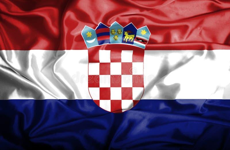 Drapeau de ondulation de la Croatie illustration stock